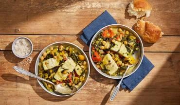 תבשיל ברמונדי ישראלי ברוטב פלפלים ומנגולד בנוסח מרוקאי