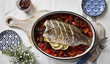 דגים בתנור בסגנון יווני